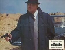 JEAN GABIN  LE CLAN DES SICILIENS 1969 VINTAGE LOBBY CARD ORIGINAL #14