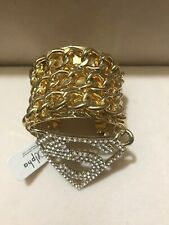 Cuff Bracelet Super Gold Chain