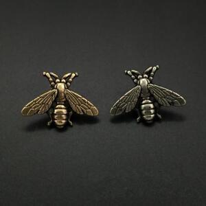 Retro Antique Metal Gold/Silver Bee Brooch Lapel Pin Badge Men's Suit, Coat, Tie