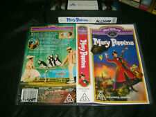 VHS * WALT DISNEY - MARY POPPINS * RARE Australian Issue - Limited Release!