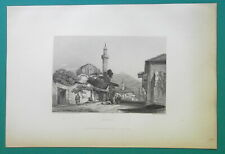 GREECE View of Patras - 1834 Antique Print Engraving