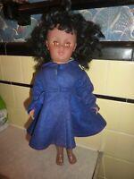 """Vintage HP Vinyl African American Walker Doll  18"""" P-15 Redressed (Q0 00P)"""
