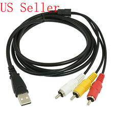 usa seller 3-RCA to USB AUX ADAPTER AUDIO VIDEO AV CONVERTER CABLE CORD LINK RGB