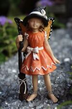Fairy Witch Claire w Broom and Butterfly Wings WS 1692 Miniature Fairy Garden