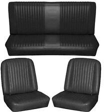 65 Falcon Futura Hardtop Full Upholstery Set w/ Bucket Seats, Black