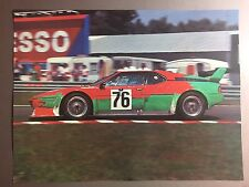 1980 BMW M1 Le Mans Race Car Print, Picture, Poster RARE!! Awesome L@@K