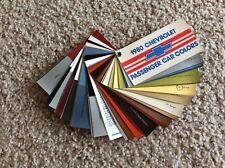 1980 Chevrolet Passenger car salesmans pocket color samples
