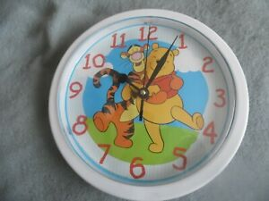 "Vintage Disney Winnie the Pooh and Tigger Wall Clock 10"" Germany Mvmt"