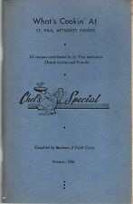 INDEPENDENCE MO 1956 ST PAUL METHODIST CHURCH COOK BOOK LOCAL ADS MISSOURI *RARE