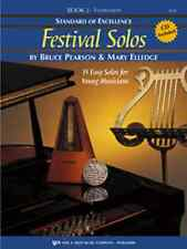 """Standard Of Excellence """"Festival Solos"""" Music Book 2 W/Cd Trumpet Brand New Sale"""