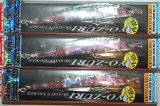 """3 lures yo zuri crystal 3d minnow jointed floatin 5 1/4"""" f1051-hnm rainbow trout"""