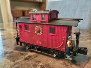 ✅MTH RAILKING NORTHERN PACIFIC BOBBER CABOOSE. CUSTOM LETTERED AND WEATHERED.