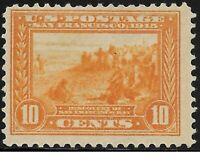 1913 SC #400 Mint XF - 10c orange yellow San Franciso Bay H  - CV $120.00 (42931