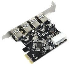 Adaptador de Tarjeta de Expansion Expreso FAST USB 3.0 PCI-E PCIE 4 Puertos D7P3