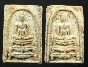 2 PCS PHRA SOMDEJ PHUT SON LP TOH WAT RAKHANG THAI BUDDHA AMULET