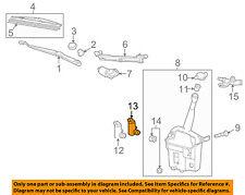 Pontiac GM OEM 09-10 Vibe Wiper-Rear Pump 19184591