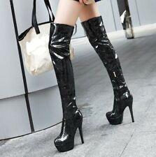 14cm High Heel Platform Over The Knee High Thigh Boots Women Cosplay Shoes Punk