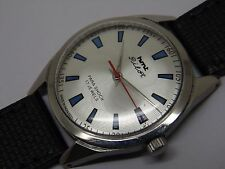 hmt pilot hand winding men's steel silver dial vintage india watch run order-13
