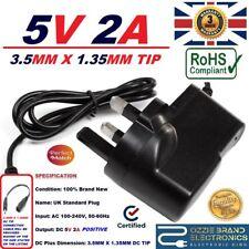 UK 5V 2A AC/DC adaptador de fuente de alimentación compatible para Saitek PZ44 Pro Vuelo Yugo