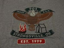BOY SCOUT TROOP Eagle Strongsville Ohio T Shirt FREE Shipping Adult size Medium