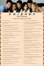 "FRIENDS POSTER ""THINGS I LEARNED PINK"" LICENSED ""BRAND NEW"" SIZE 61cm X 91.5cm"