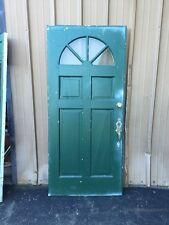 Cm 86 Antique Wood Raised Panel Entrance Door 35 Three-Quarter Inch By 79 5/8