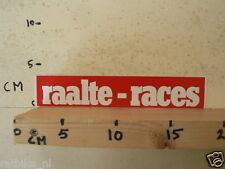 STICKER,DECAL RAALTE RACES LUTTENBERGRING ROOD RED WEGRACE ROADRACING