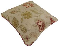 """Luxurious Tapestry Chenille Champagne Cream Red Gold Cushion Cover 24"""" - 60cm"""