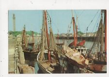 Fishing Draggers At The Dock Provincetown Cape Cod Mass. Old Postcard USA 566a