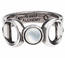 Alchemy Gothic Triple Goddess Ring Silver-coloured M