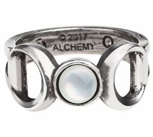 Triple Goddess Occult Ring Wiccan Maiden Mother Crone Magick Alchemy Gothic R219