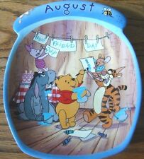 Winnie The Pooh The Whole Year Through AUGUST Calendar Plate BRADFORD EXCHANGE