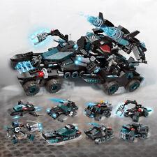 714pcs 8in1 SWAT Fighting Vehicle Model Building Blocks Aircraft Toys Bricks