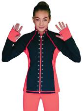 Chloenoel Color Contrast Jacket w/Pockets, Thumb Holes & Crystals