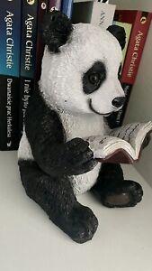 Panda Figure Reading Panda Ornament  Sculpture New Decoration