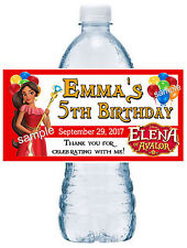 20 ELENA OF AVALOR BIRTHDAY PARTY FAVORS WATER BOTTLE LABELS ~ waterproof ink