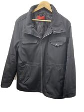 Black Hugo Boss Jacket Windbreaker Bomber Coat Size Medium