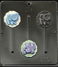 Baby Elephant Lollipop Chocolate Mold Kit with Bags,Sticks & Twist Ties 697K NEW