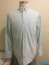 GITMAN BROS VINTAGE for OPENING CEREMONY MED SEA FOAM ELBOW PATCH CHAMBRAY SHIRT