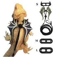 Adjustable Lizard Bearded Dragon Reptile Critter Pet Leash Harness Dragon Wings