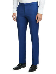New Hugo Boss Henry/Griffin Slim Fit Suit Trousers in Medium Blue Colour Size 50