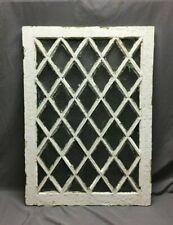 Antique 40 Lite Diamond Privacy Window Casement 29X39 Cabinet Shabby Vtg 279-20B