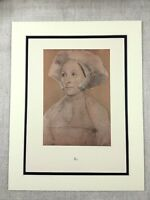 1911 Antique Print Holbein Portrait of a Lady Margaret Roper Limited Edition