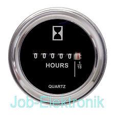 Einbau Betriebsstundenzähler 10-85V/DC Stundenzähler Zeitzähler chrom 12V 24V