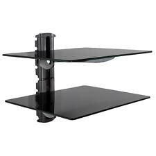 Soporte de pared para reproductores de DVD y receptores 2 estantes tv hifi negro