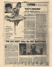 """Dirty Dancing """"All The Right Moves"""" Newspaper Article Replica > Patrick Swayze"""
