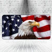 American Eagle Aluminum Flag Rebellion Series Patriotic License Plate Car Truck