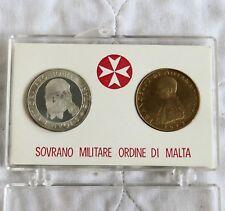 Orden de Malta 1973 Proof Plata 9 Tari y bronce 10 Grani Conjunto de 2 monedas-Pack