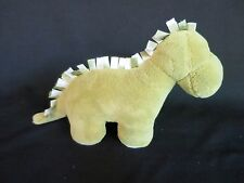 """Little Jellycat Chime Chums Dinosaur Baby Toy Plush Green 9""""x7"""" with Ribbons"""