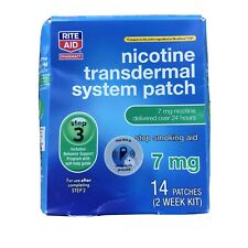 Rite Aid Step 1 Nicotine Transdermal System Patch 14 Patches 7mg Exp. 10/2021